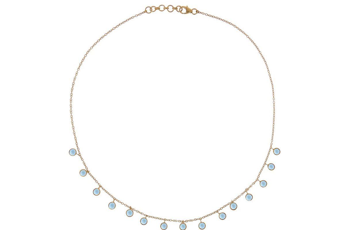 Topaz and Gold-Plated Necklace