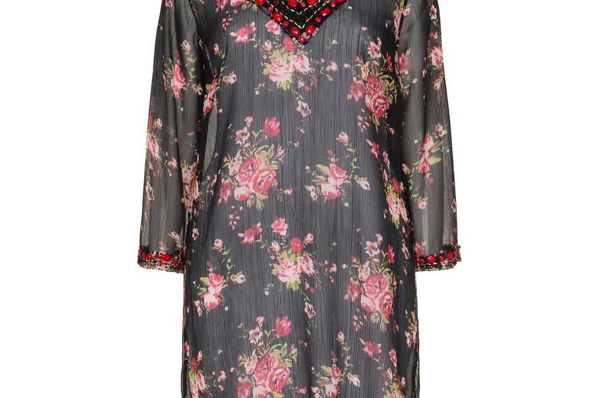 Floral Print Beaded Tunic