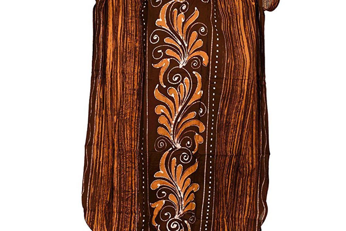 Evening Gown Day Dress Long Caftan Hand Batik V Neck