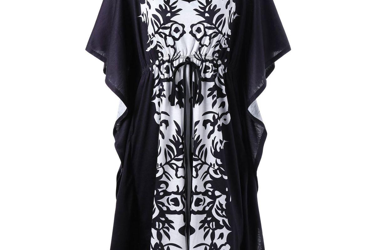 Bandana Plus Size Butterfly Sleeve Kaftan Dress