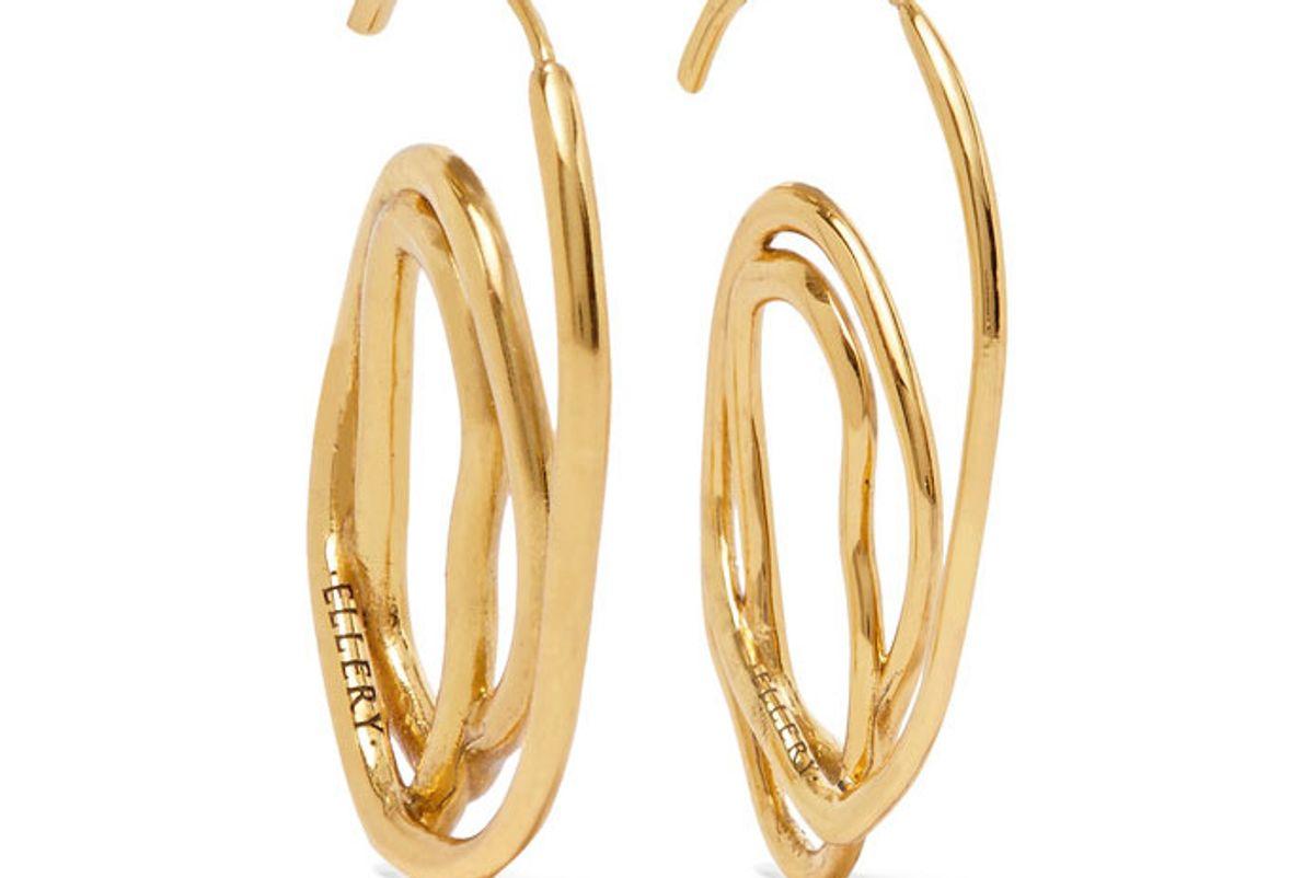Forbidden gold-plated earrings