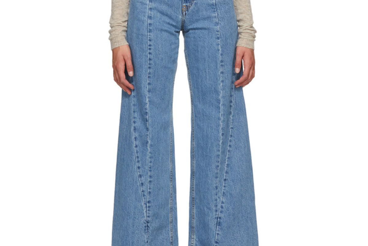 maison margiela oversized high waist jeans