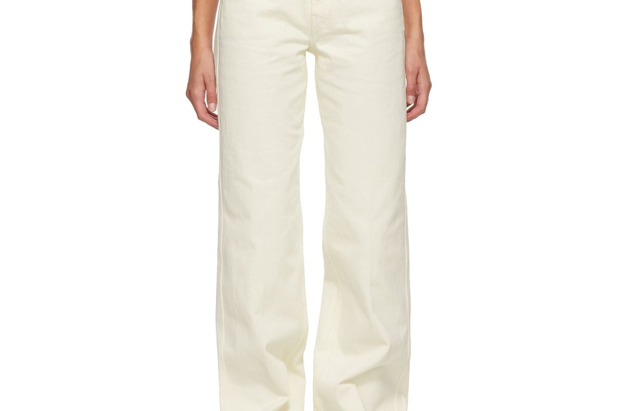 lemaire garment dyed jeans