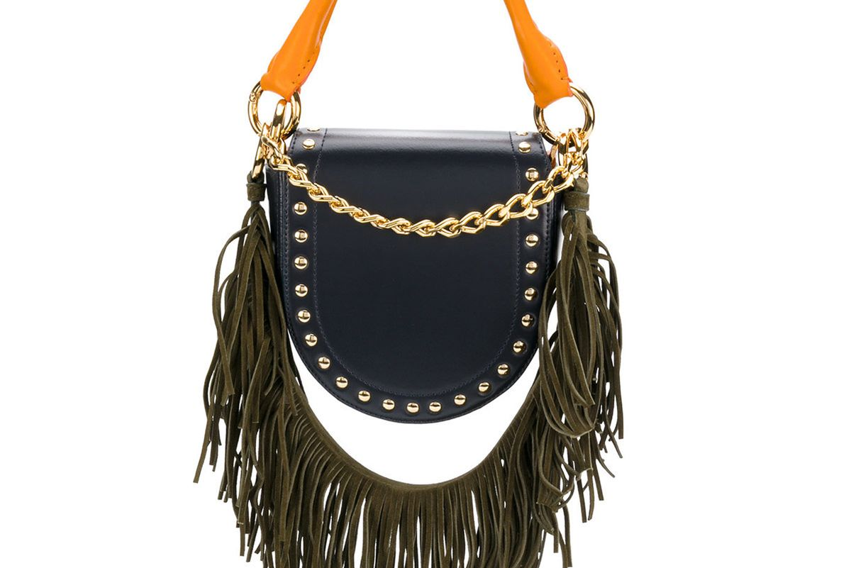 Fringed Half Moon Shoulder Bag