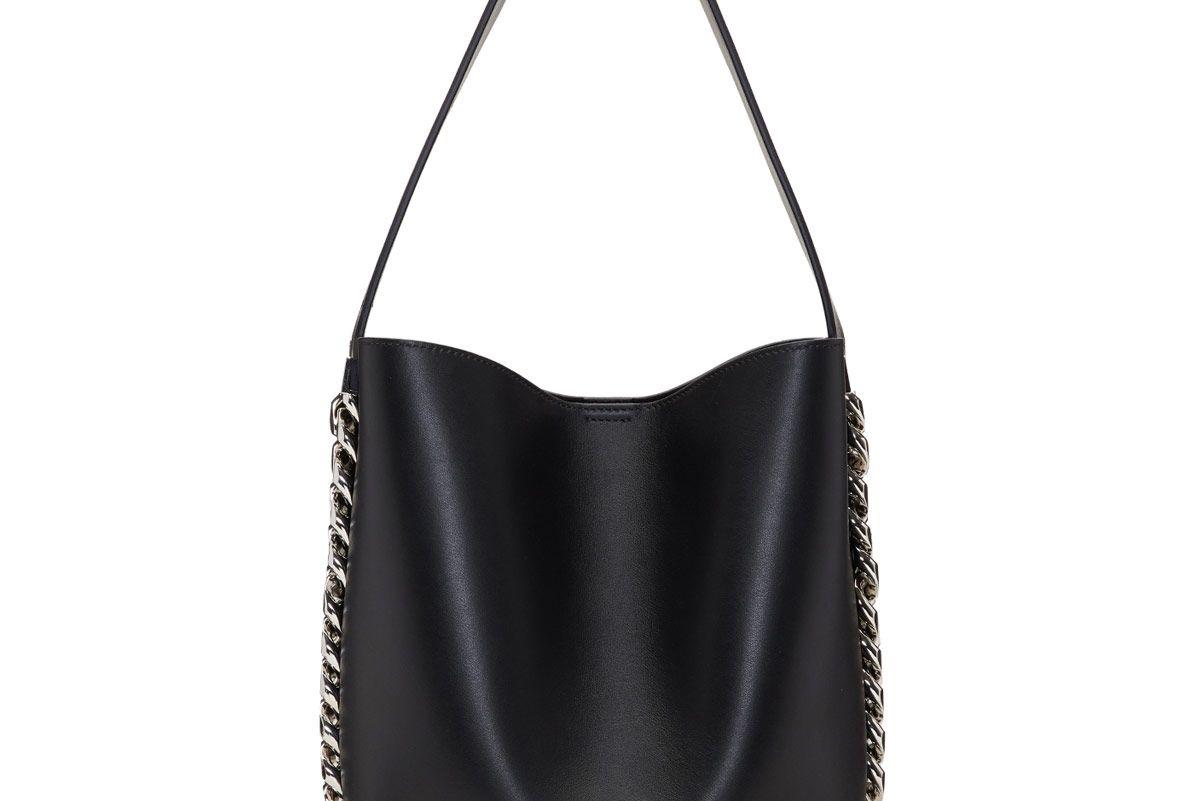 Black Infinity Bucket Bag