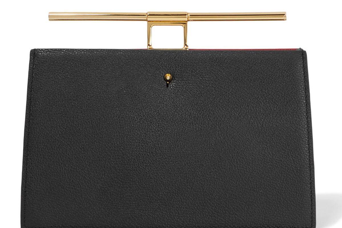 Chateau Mini Color-Block Textured-Leather Clutch
