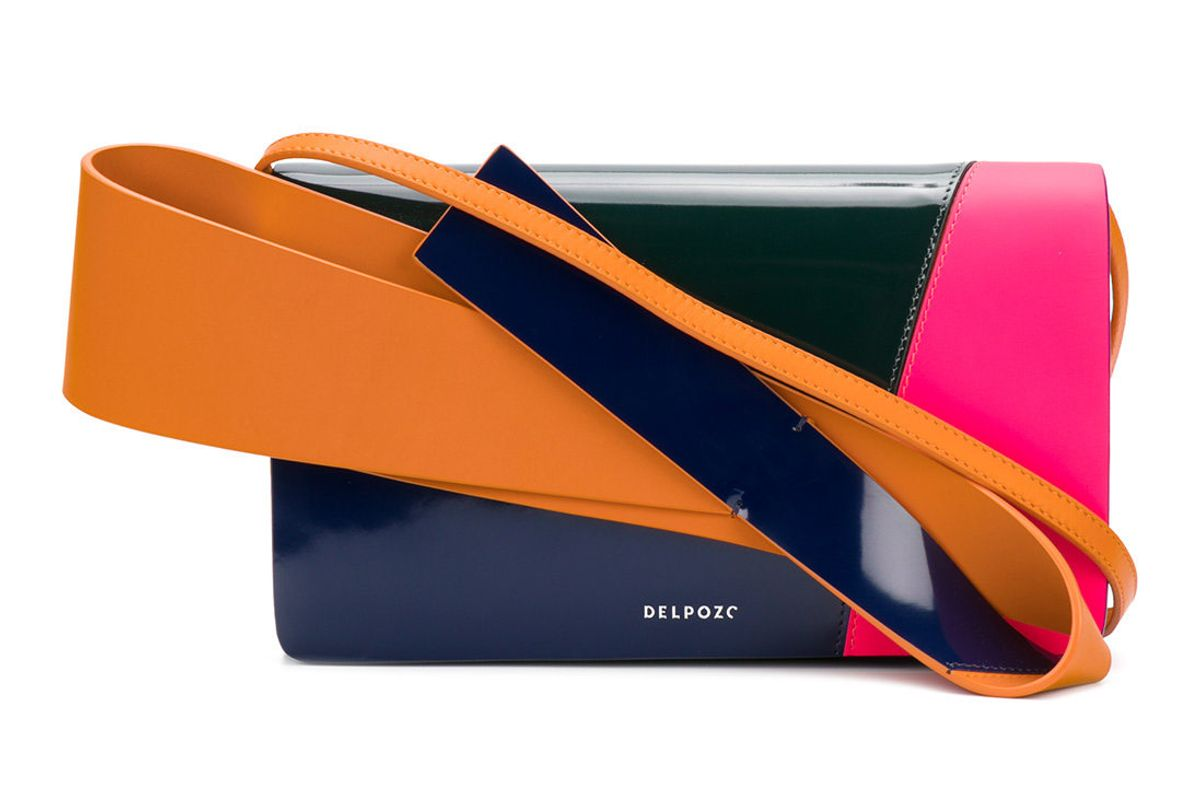 Colourblock Clutch with Handle