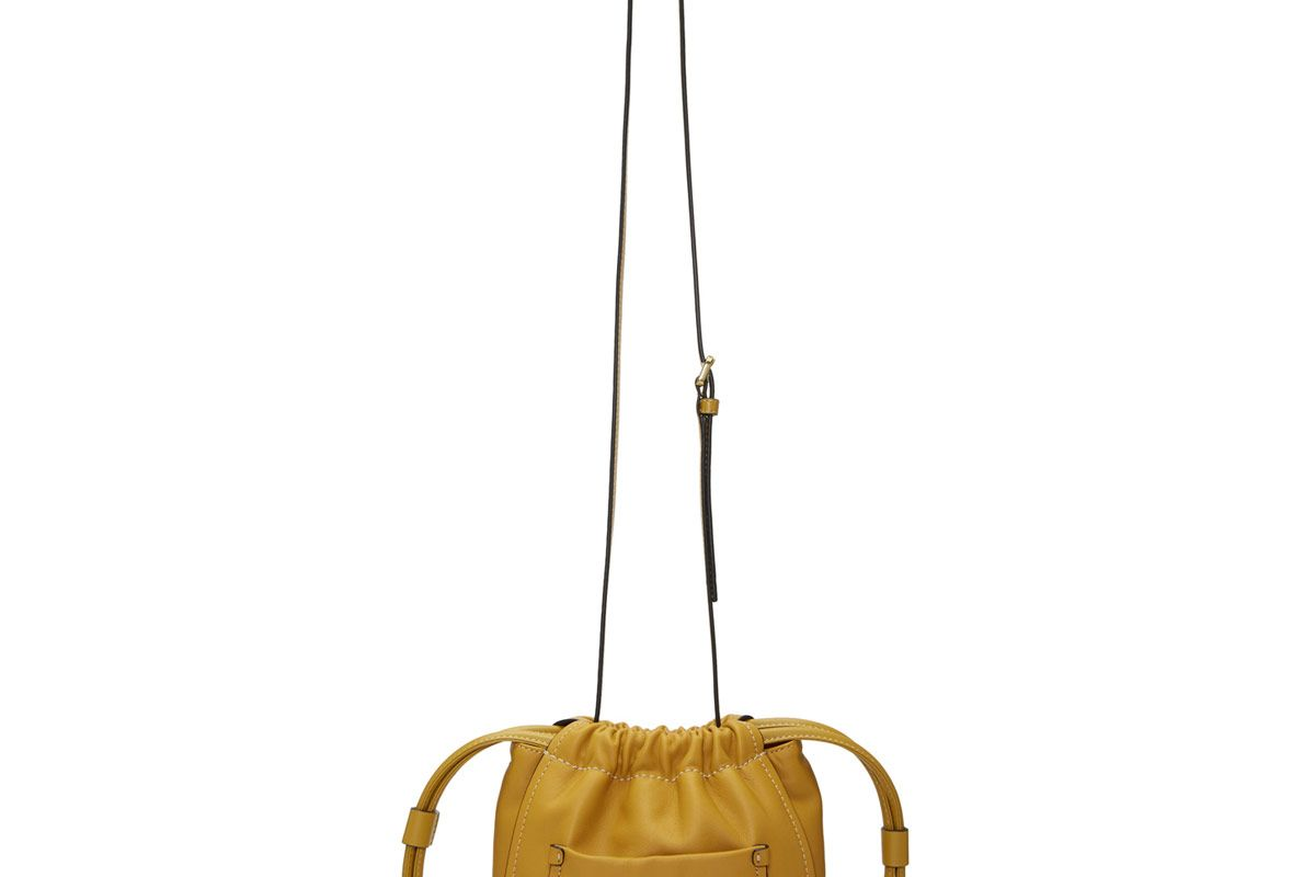 Yellow Drawstring Crossbody Bag