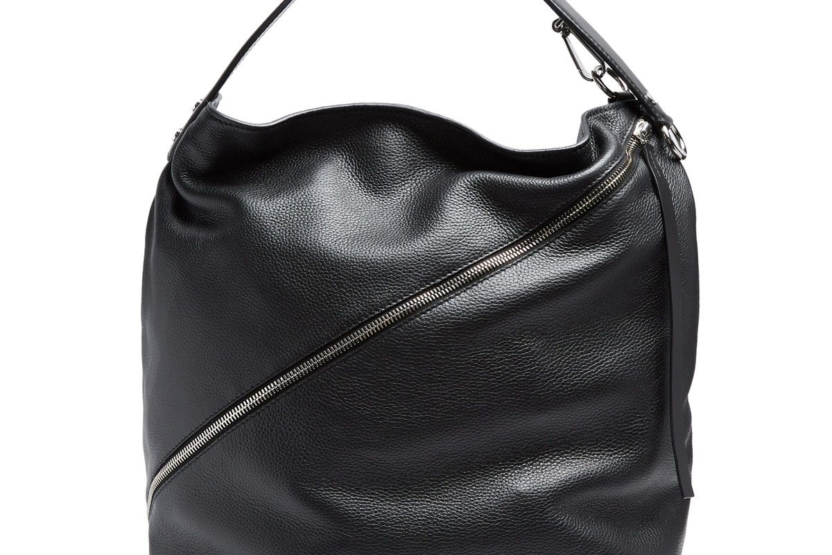 Hobo Large Grained-Leather Bag