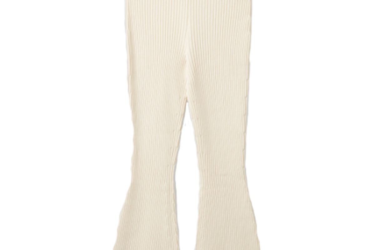 cos organic cotton chenille flared ribbed pants