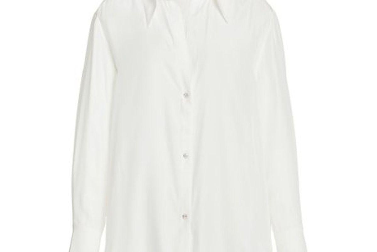 gauge81 sapporo crystal embellished oversized silk shirt