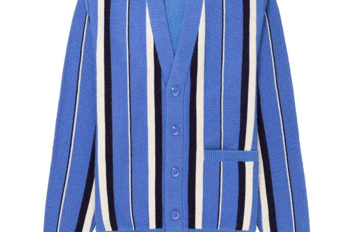 aime leon dore striped mohair cardigan