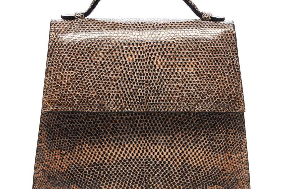 hunting season small lizard top handle bag