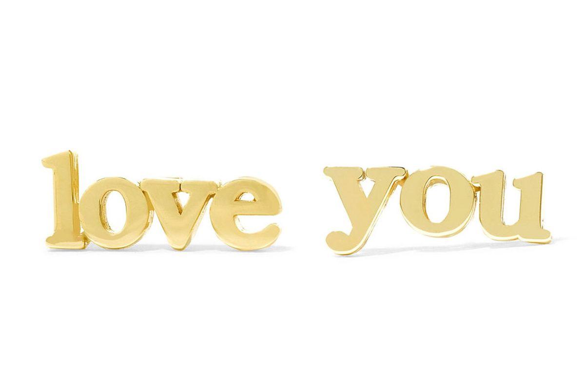 Love You 18-Karat Gold Earrings
