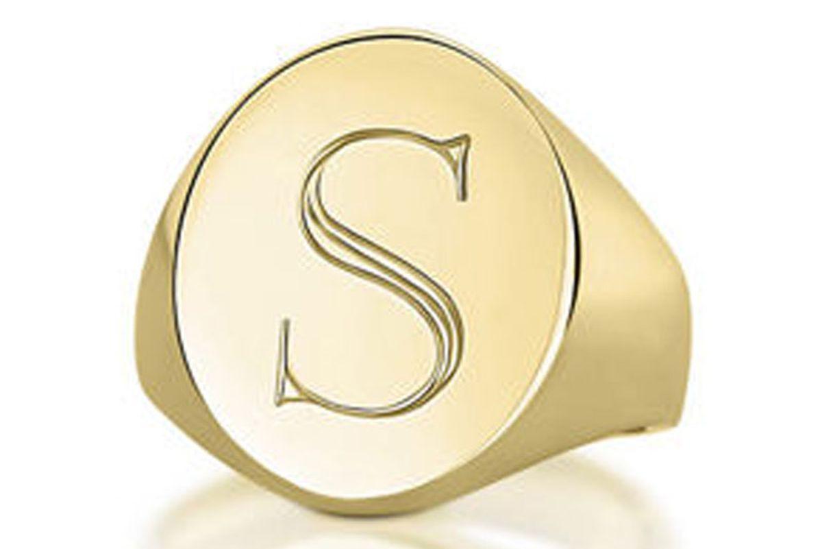 Monogrammed Pinky Signet Ring