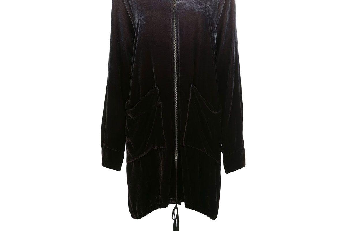 raquel allegra velvet look robe jacket