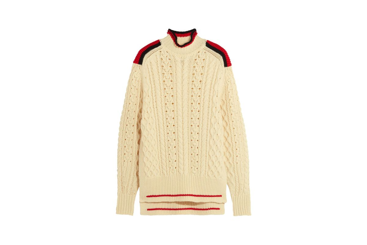 Edison Oversized Cable-Knit Wool-Blend Sweater