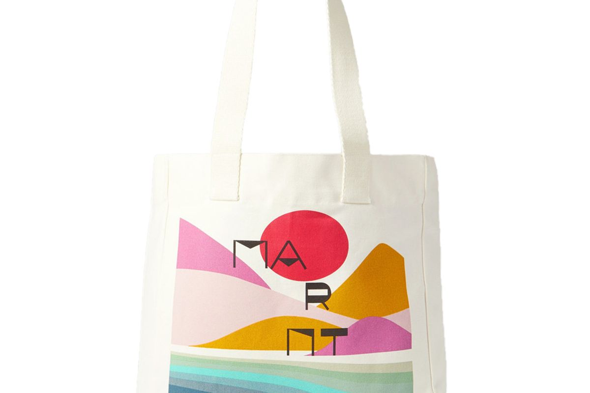 isabel marant printed cotton canvas tote