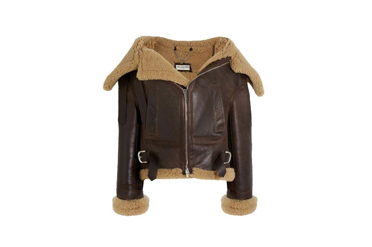 Swing Bombardier Oversized Shearling Jacket