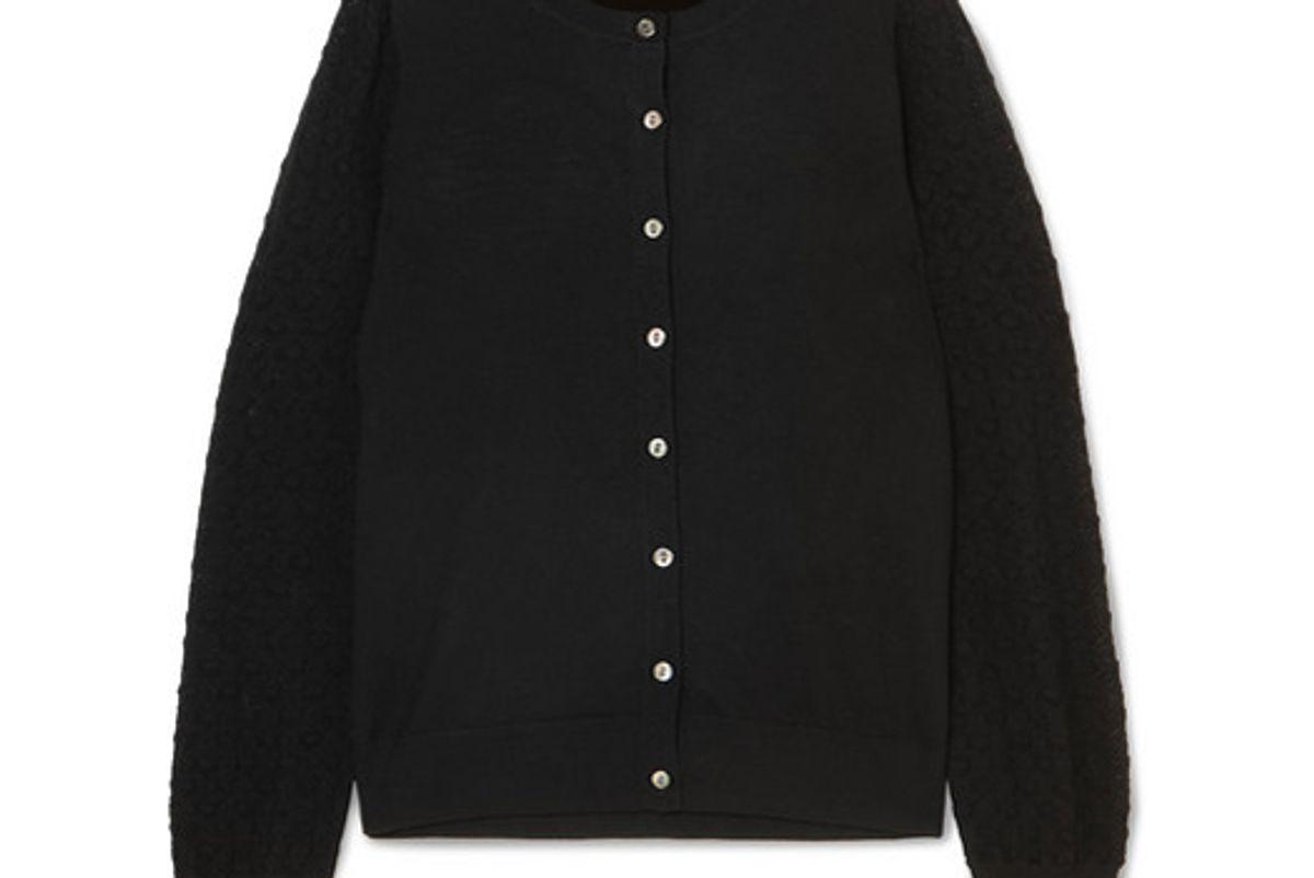 a.p.c. atelier de production et de creation cora merino wool blend cardigan