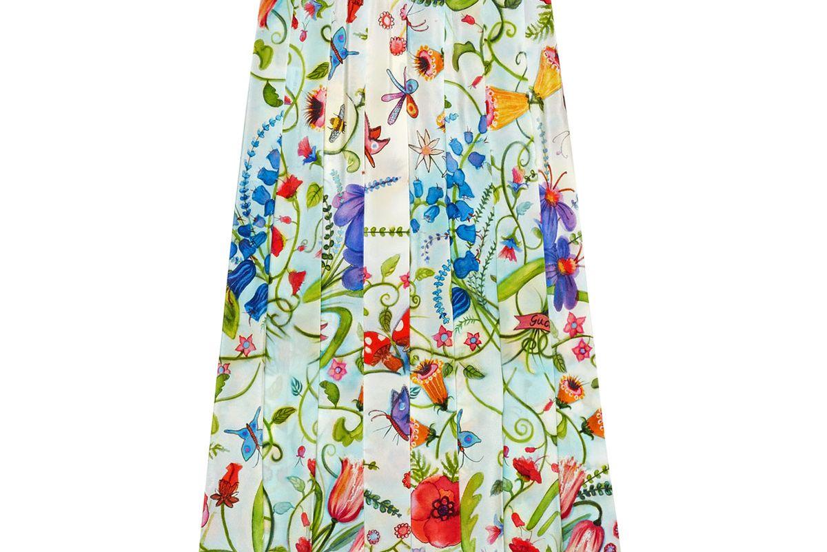 Unskilled Worker Silk Skirt