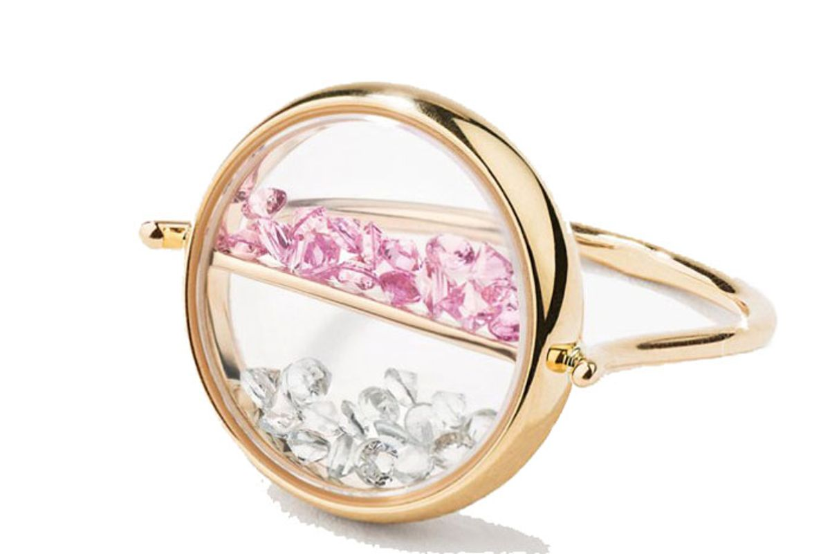 Pink Sapphire And Topaz Chivor Ring