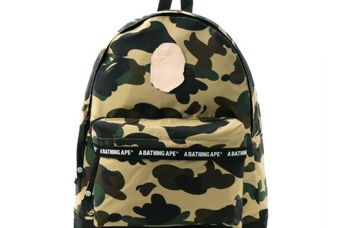 1st Camo Daypack Backpack Bag Bape