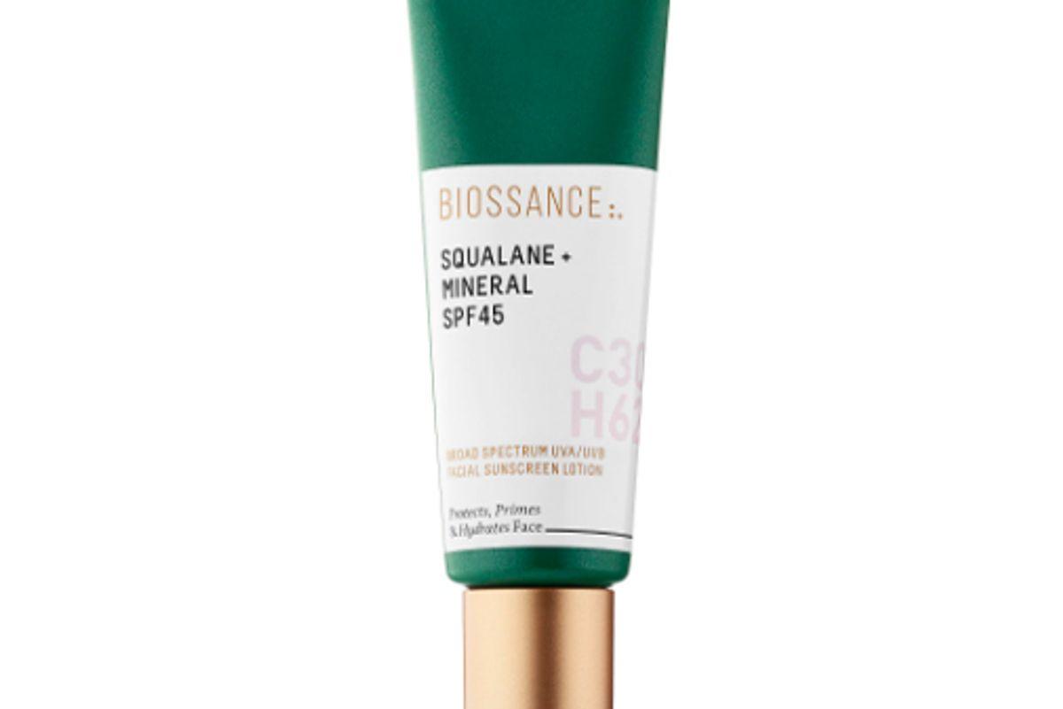 biossance squalane mineral spf 45