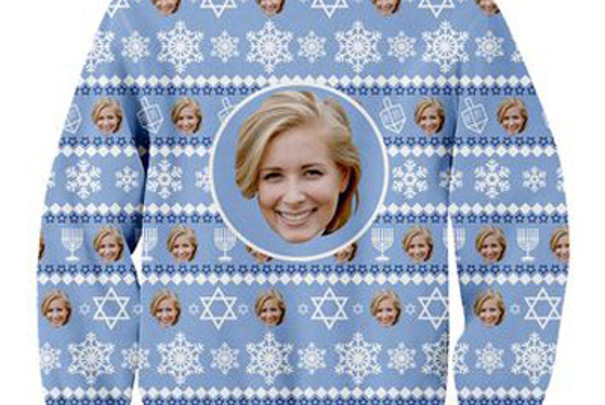 Custom Face Hanukkah Sweater