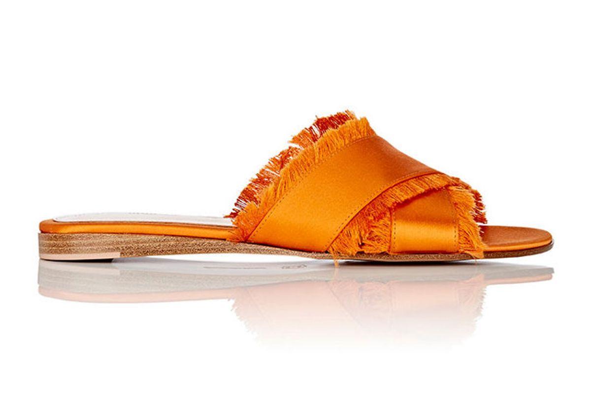 Barth Satin Slide Sandals