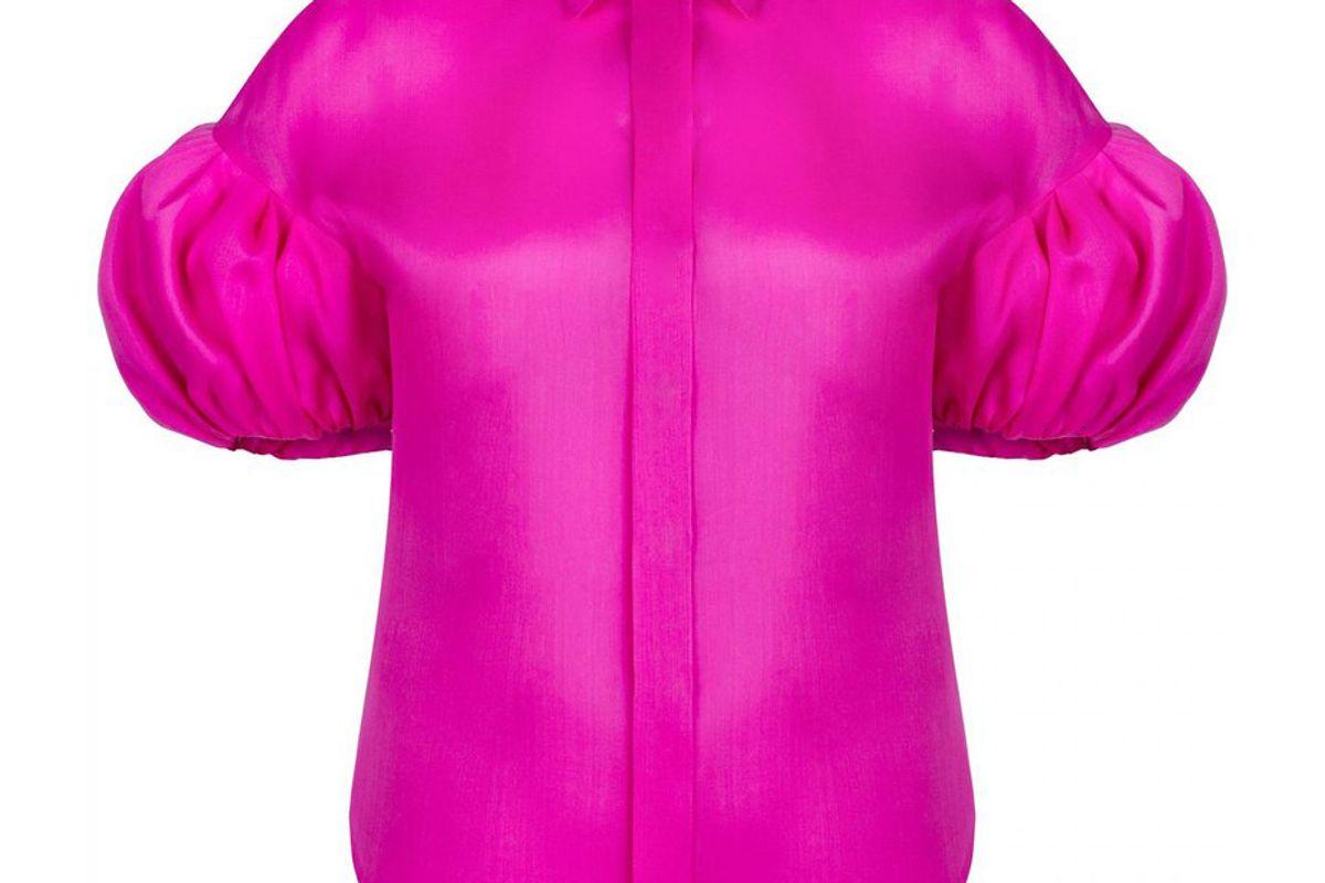 dice kayek puffy sleeve signature shirt