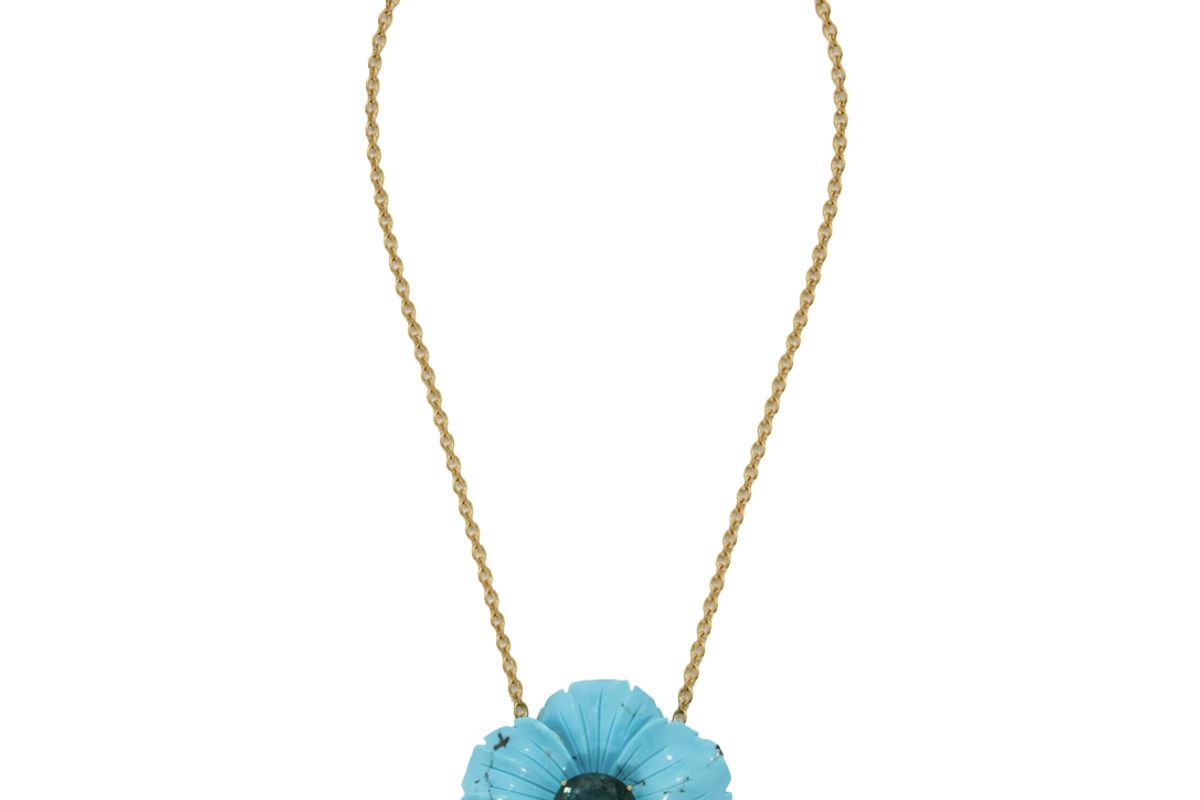 irene neuwurth one of a kind tropical flower necklace