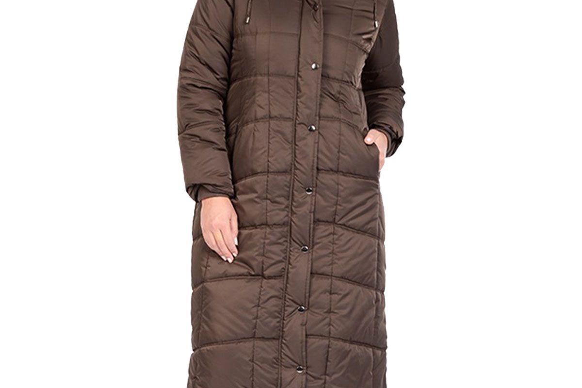 Maxi Puffer Coat with Detachable Faux Fur Hood