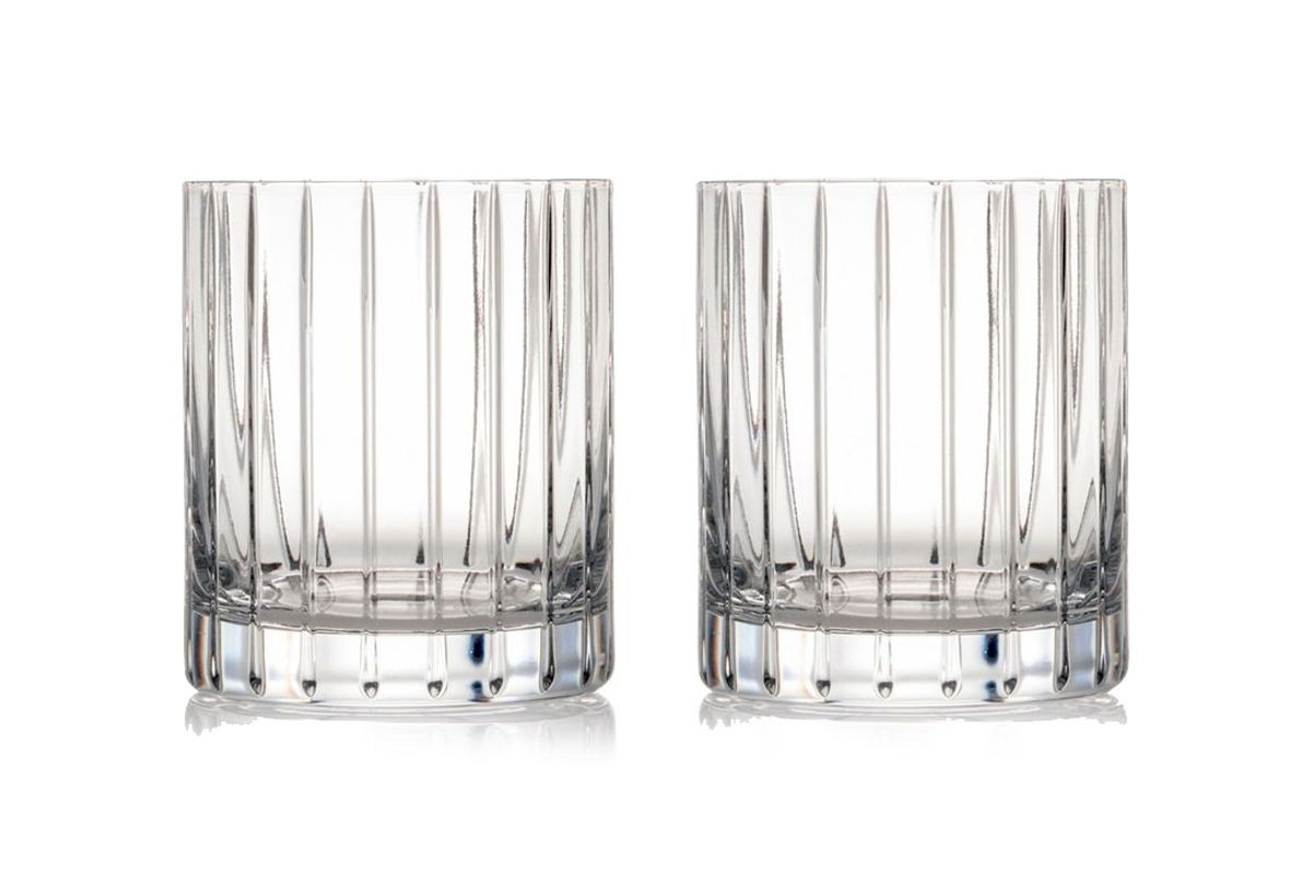 Avenue Lead Crystal Double Old Fashioned Glasses (Set of 2)