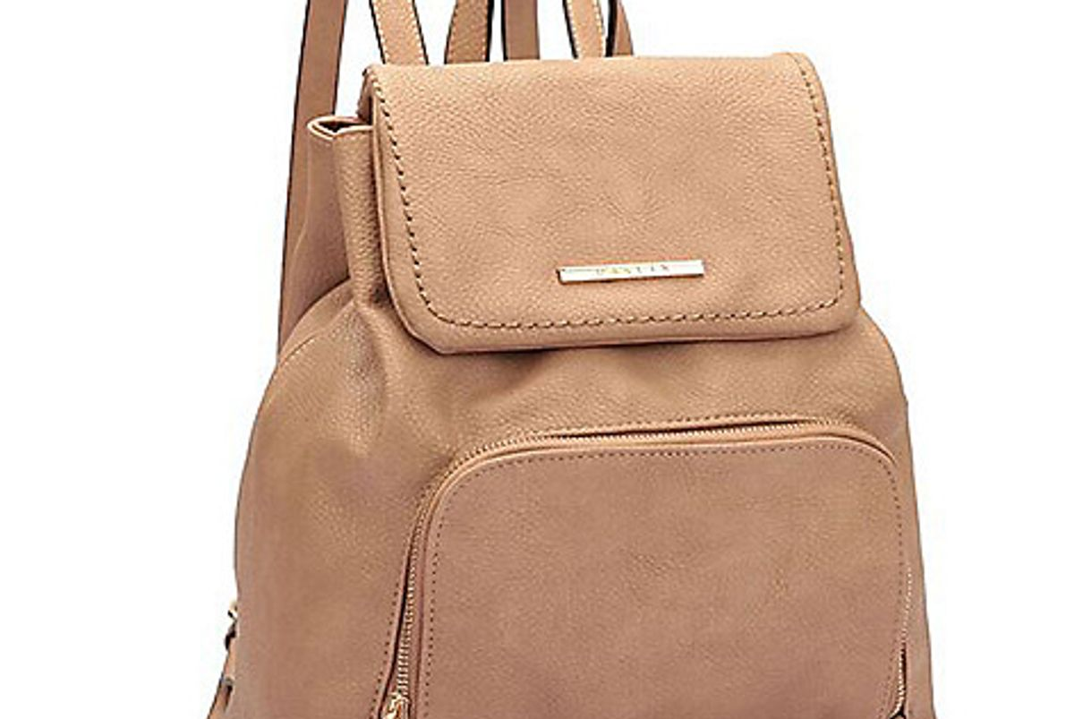 Dasein Faux Leather Flap-over Backpack
