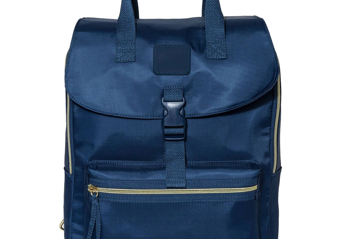 Women's Nylon Flap Backpack with Top-Handles