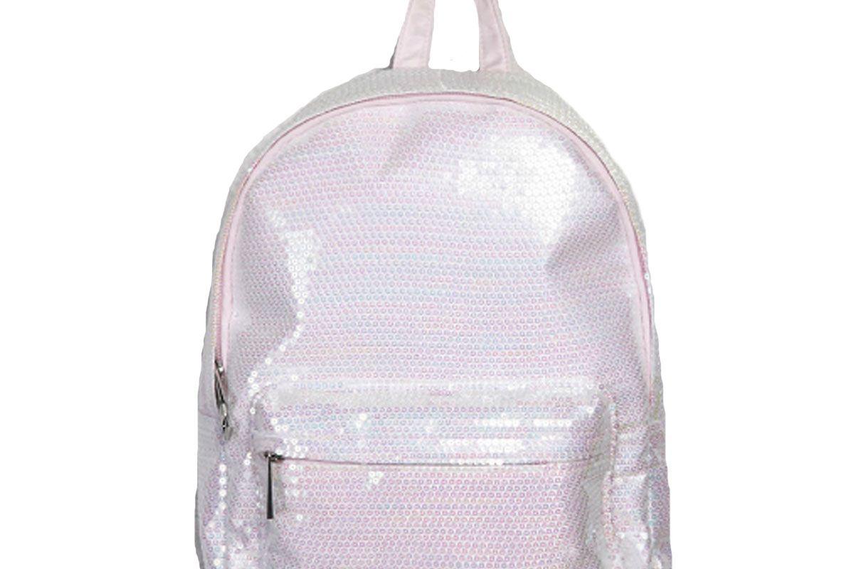 Sequin Zip Backpack