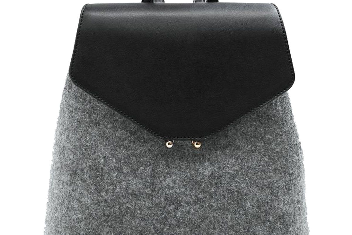 Lapel mixed backpack