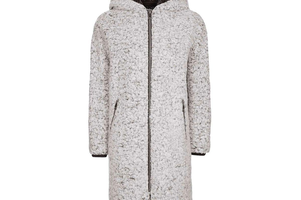 Salt & Pepper Hooded Coat