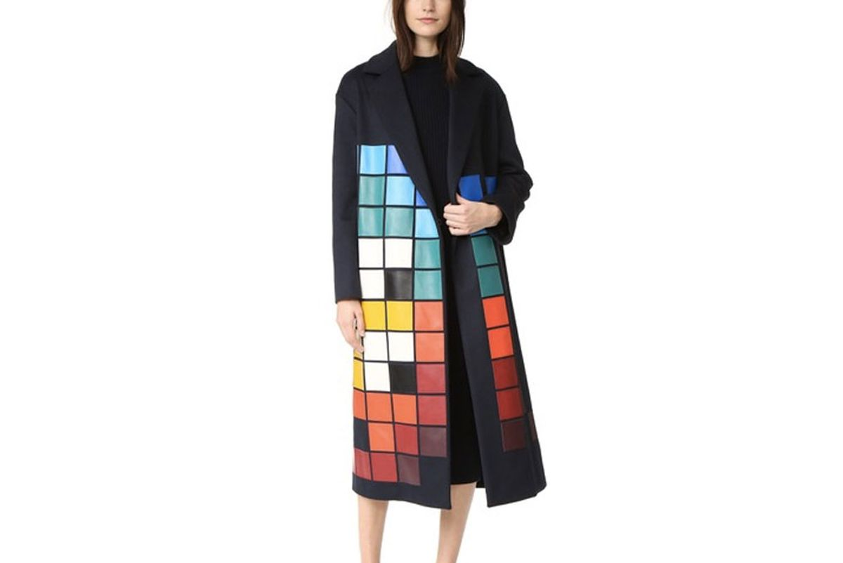 Oversized Space Invaders Coat