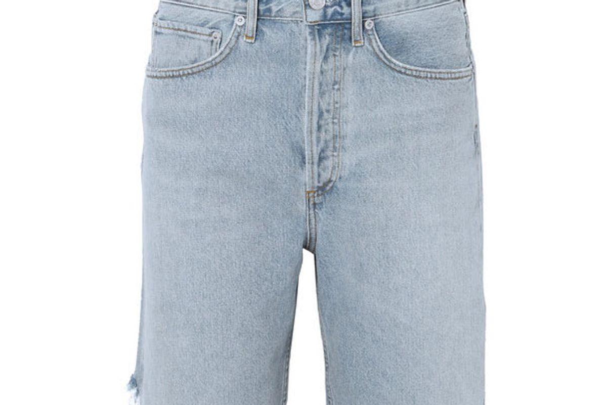 agolde 90s distressed denim shorts