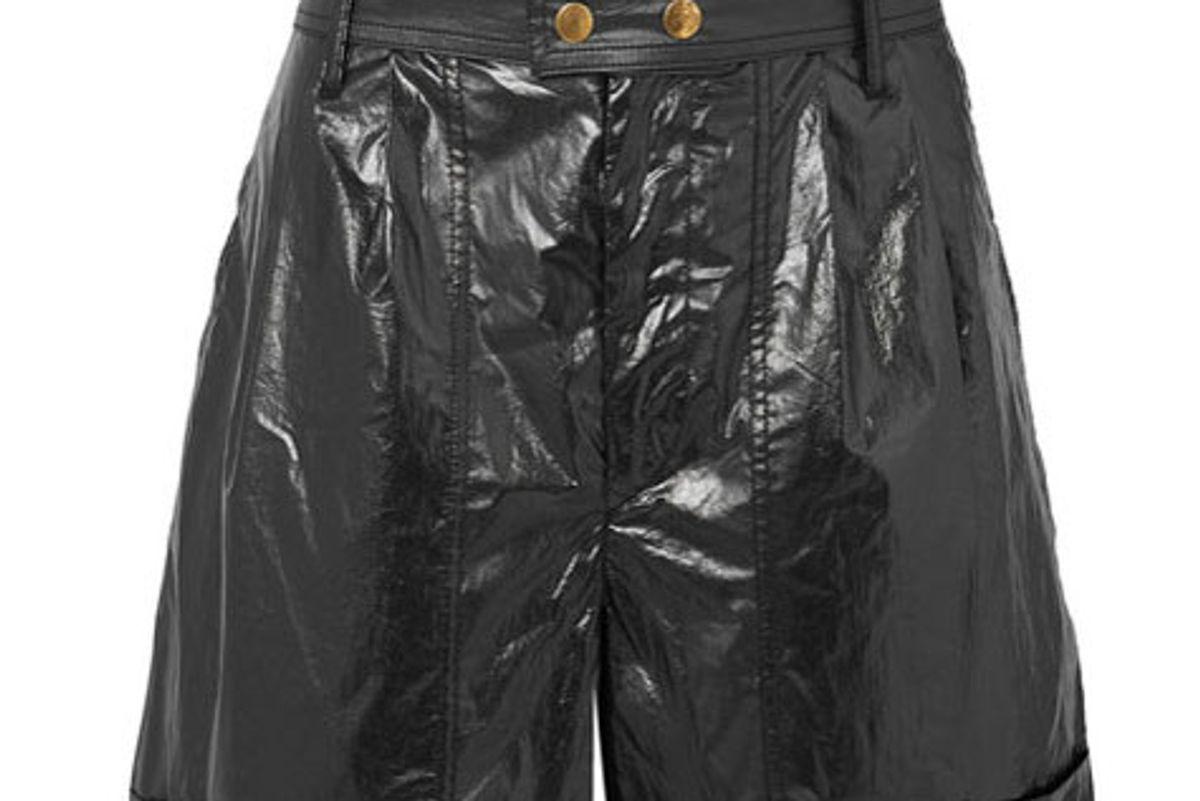 isabel marant tweni coated cotton shorts