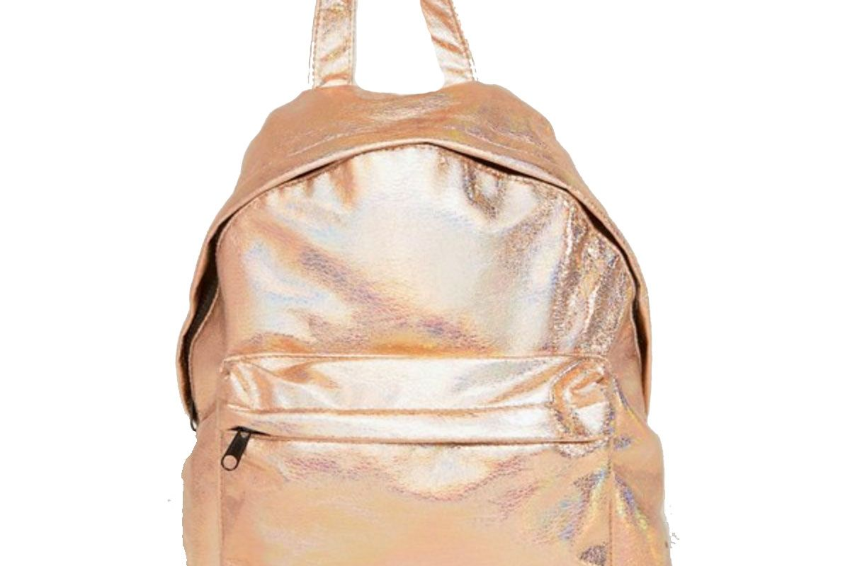 Textured Metallic Hologram Backpack