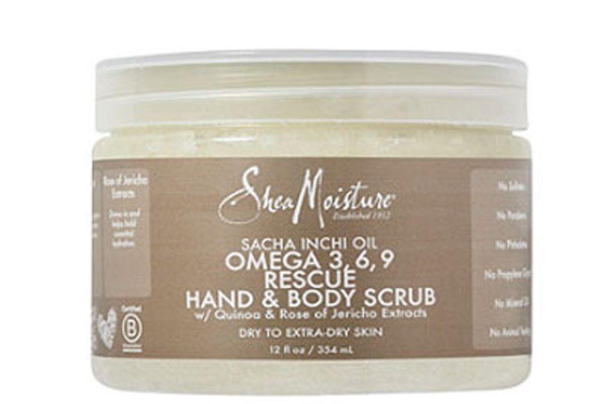 shea moisture sacha inchi omega 369 rescue replenishing hand body scrub