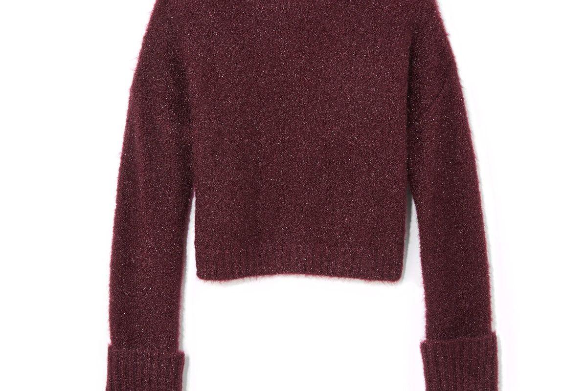 Large Cuff Crop Sweater