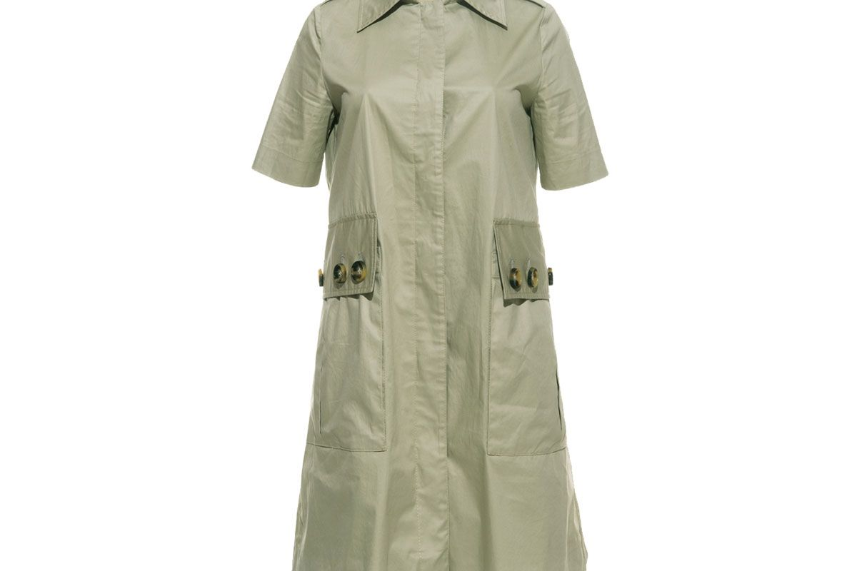 Patch Pocket Shirt Mini Dress