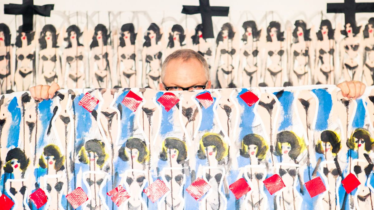 Donald Robertson Paints Everyone Taller and Impossibly Chic... It's a Winning Formula
