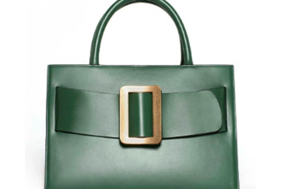 boyy bobby buckled leather tote