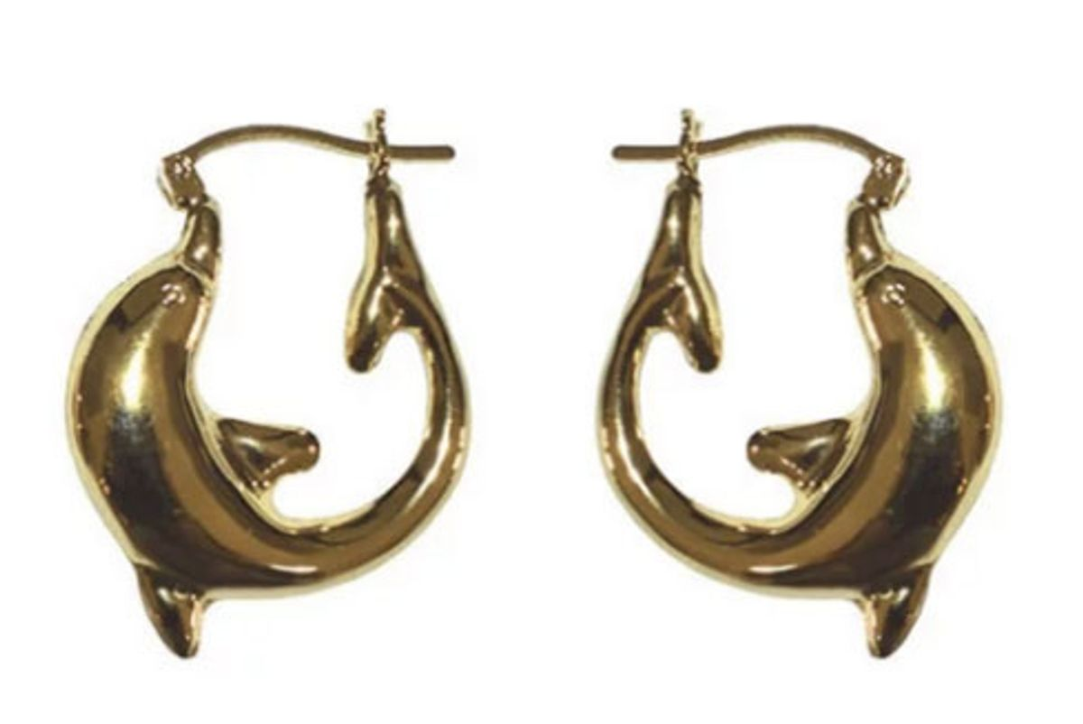 tuza jewelry dolphin hoop earrings small