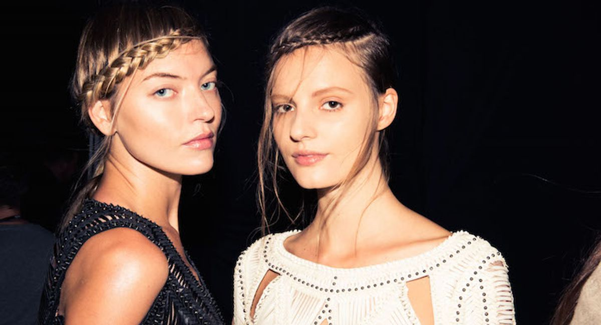 How to Braid Your Hair like the Models at Hervé Léger